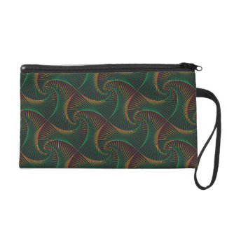 Twisted - Green and Red Wristlet