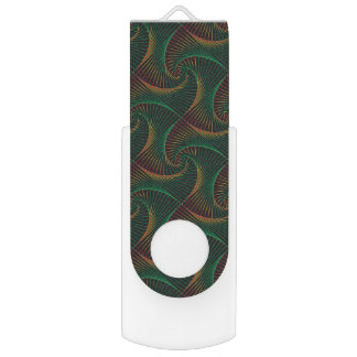 Twisted - Green & Red USB Flash Drive