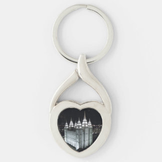 Twisted Heart Metal Keychain SLC Temple