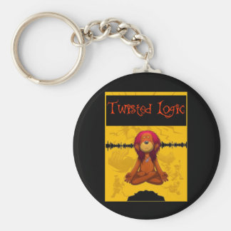 Twisted Logic Meditate Keychain