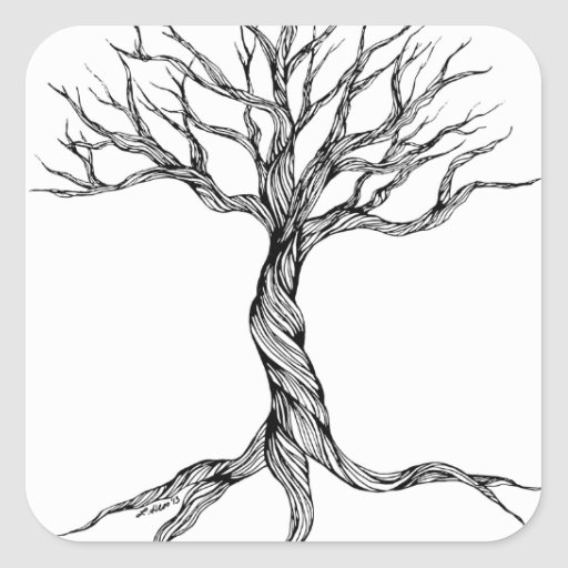 Twisted Old Tree stickers