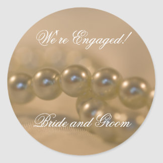 Twisted Pearls Engagement Envelope Seals