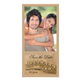 Twisted Pearls Wedding Save the Date Customized Photo Card