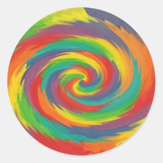 Twisted Rainbow Classic Round Sticker