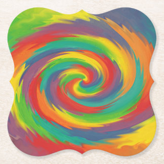 Twisted Rainbow Paper Coaster