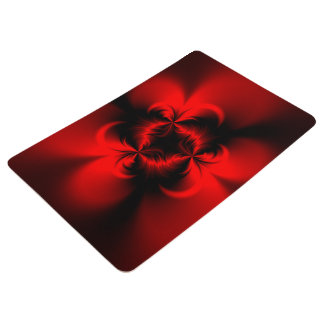 Twisted Red Floor Mat