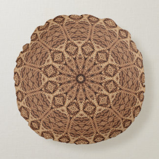 Twisted Rope Kaleidoscope Pattern Round Pillow