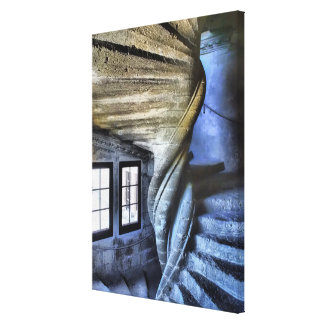 Twisted Spiral Staircase, France Canvas Print