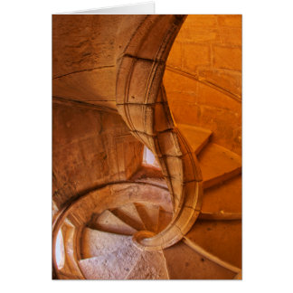Twisted Spiral Staircase, Portugal Card