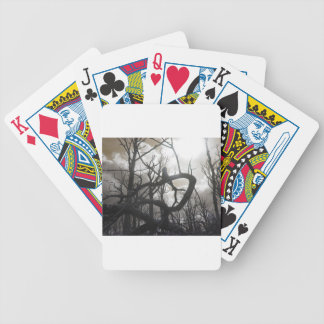Twisted Wood Bicycle Playing Cards