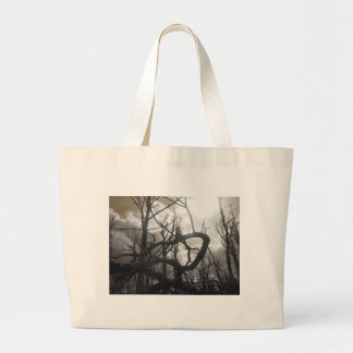 Twisted Wood Large Tote Bag