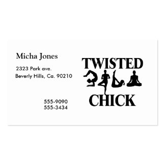 Twisted Yoga Chick Business Card