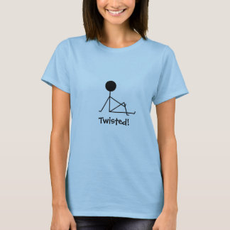 Twisted! Yoga figure in a twist pose T-Shirt