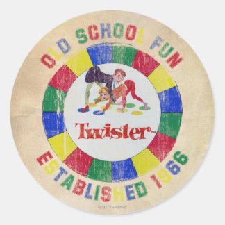 Twister Badge Classic Round Sticker