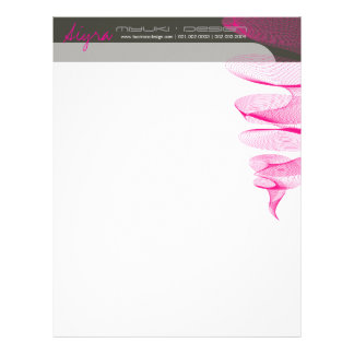 Twister Fuchsia Pink Modern Designer Letterhead