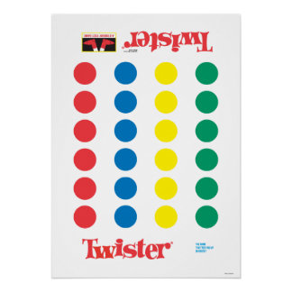 Twister Game Mat Poster