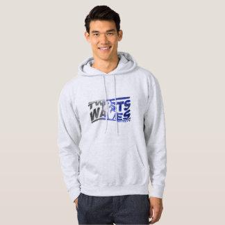Twists & Waves Sweatshirt Hoodie Black Blue