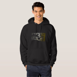 Twists & Waves Sweatshirt Hoodie Black Gold Black