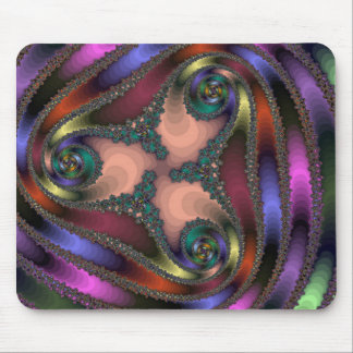 Twisty Chrome Color Abstract Mouse Pad