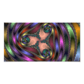 Twisty Chrome Color Abstract Photograph