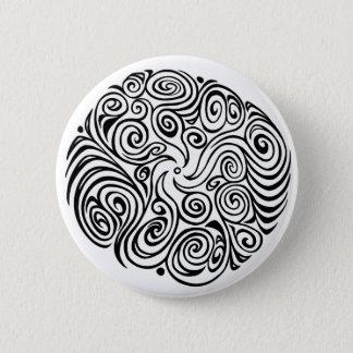 Twisty Swirly (Black) 2 Inch Round Button