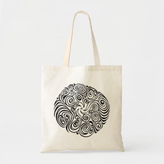 Twisty Swirly (Black) Tote Bag
