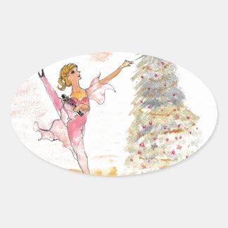 Twitt Clara and the Nutcracker 2016 Oval Sticker