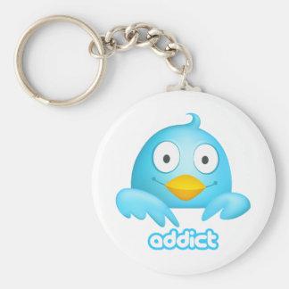 Twitter Addict Keychain
