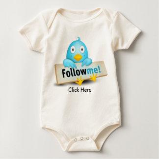 Twitter Baby Follow Me Baby Bodysuit