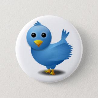 Twitter bird 2 inch round button