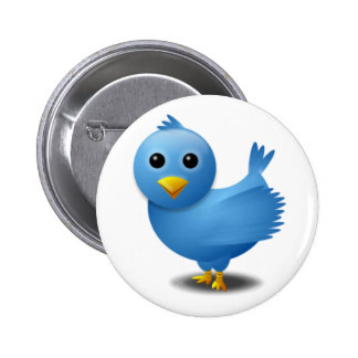 Twitter bird 2 inch round button