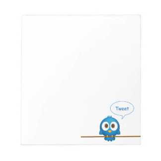 Twitter bird notepad