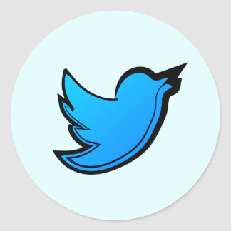 Twitter Bird Round Sticker