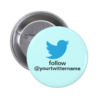 Twitter Button- Promote Yourself! 2 Inch Round Button