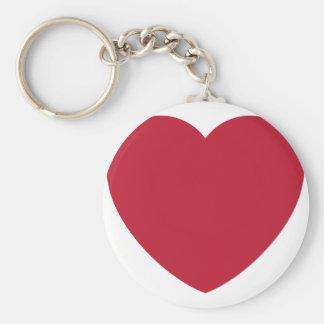 Twitter Coils Heart Emoji Basic Round Button Keychain