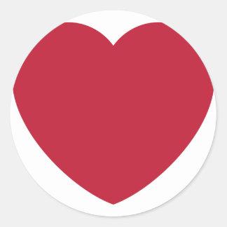 Twitter Coils Heart Emoji Classic Round Sticker