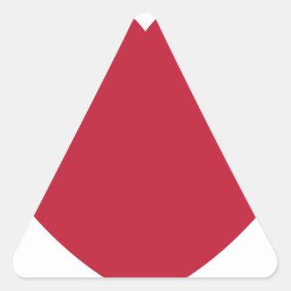 Twitter Coils Heart Emoji Triangle Sticker