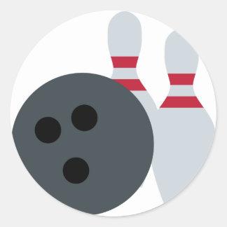 Twitter Emoji - Bowling fans Classic Round Sticker