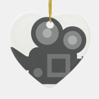 Twitter Emoji - Camera film making Ceramic Ornament
