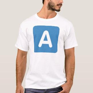 Twitter Emoji - Letter A T-Shirt