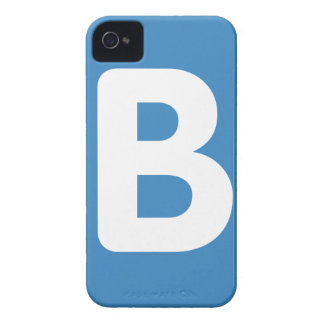 Twitter emoji - Letter B iPhone 4 Case-Mate Cases