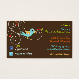 Twitter/facebook Business cards