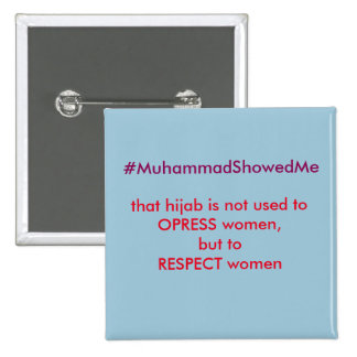 Twitter Hashtag Storm Muhammmad Showed Me 2 Inch Square Button