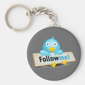 Twitter Mania - Follow Baby Bird Basic Round Button Keychain