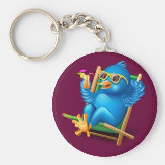 Twitter Relax Basic Round Button Keychain