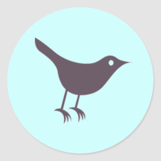 Twitter Round Sticker