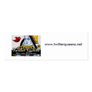 TwitterQueens, www.twitterqueens.net Mini Business Card