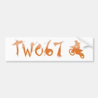 Two 67 Racing 2014 MotoX Bumper Sticker