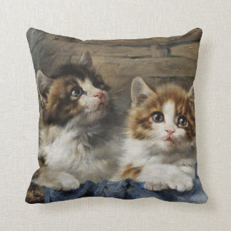 Two Adorable Kittens Throw Pillow