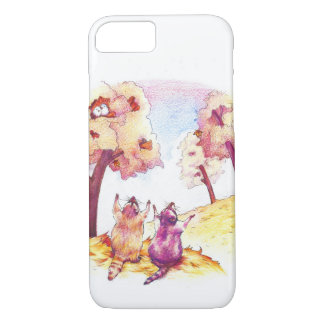 Two Adorable Raccoons - iPhone 7 Case